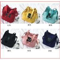 Bag Mini WB180 Tote Bag Kanvas Tas Wanita 2 in 1 Women's Shoulder Bag