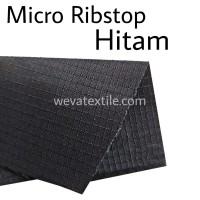 Bahan Kain Micro Ribstop Kain Jaket Parasut Waterproof Hitam