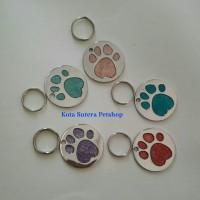 Pet Tag/Bandul Liontin Bulat Kalung kucing anjing - stainless steel