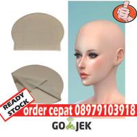 Wig botak bald cap kepala botak palsu kepala latex