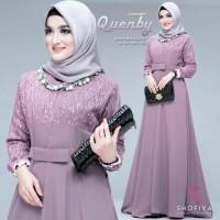 Baju Gamis Pesta Modern Seragam Gamis Terbaru Dress Muslim Wanita - XL