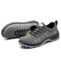 Sepatu Safety Sport Grey Abu Polos Safety Shoes Import Kerja Proyek