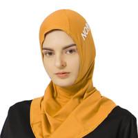 NOORE - Seoulina Sport Hijab - Pakaian Olahraga Wanita - Kuning,L