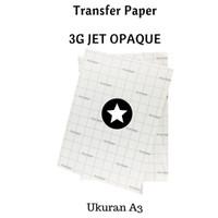 Kertas Sablon Transfer Paper 3G Jet Opaque A3