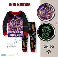 Piyama Baju Tidur Anak Laki OK90 Thanos Avengers Glow in the