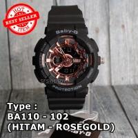 MODEL TERBARU !!! Jam tangan Wanita & anak baby-G Shock BA-110 Hitam