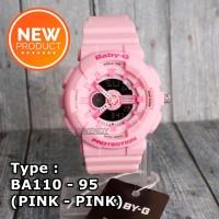 Jam tangan Wanita & anak digital Baby-G Shock BA-110 Pink anti air