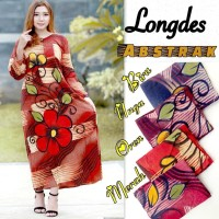 Longdress Abstrak grosir baju tidur batik daster busui lengan panjang