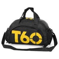 Tas Ransel Fitnes dan Duffel Gym Bag - T60 - Hitam