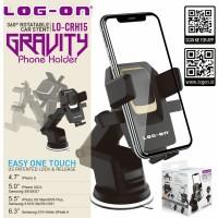 Log On Gravity Phone Holder Mobil EASY ONE TOUCH LOCK LO-CRH15 PREMIUM
