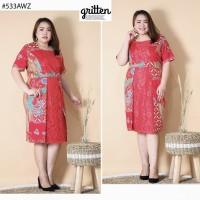 dress batik super jumbo natal/imlek 533 AWZ