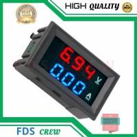 VoltMeter Digital Mini DC 0-100V 10A Ampere Volt Meter Tampilan Ganda