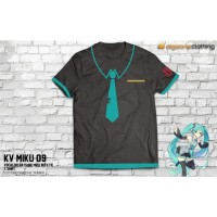 Vocaloid Hatsune Miku With Tie T-Shirt (KV MIKU 09)