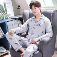 Baju Tidur Pria 5679 Men Sleepwear Pajama Piyama Panjang Cowok Bagus