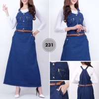 Jumpsuit Jeans/Jumpsuit Overall Dress Rok Kodok /Dress jeans Panjang