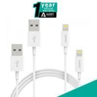 jual murah AUKEY CB-D14 Lightning Cable 2 pcs. GARANSI RESMI INDONESIA