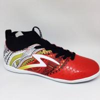 Sepatu futsal specs heritage in emperor red black gold SPTB