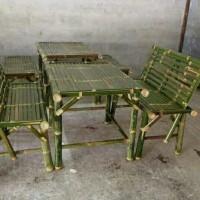 kursi bambu set komplit
