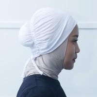 Zoya Inner Kerudung Ciput Hijab - Ciput Sanggul Smoke Tali - Putih