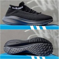 Adidas vamero Vietnam running jogging Sepatu hitam polos sekolah