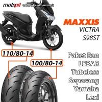 Maxxis Paket Ban Lebar Lexi Sepasang 100/80-14 110/80-14 VICTRA S98 ST