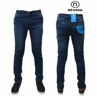 Celana Jeans Pensil Pria Skinny Nevada Bio Wash