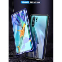 SAMSUNG GALAXY A50 A505 MAGNETIC GLASS FRONT BACK CASE CLEAR COVER 360