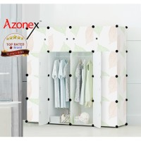 Lemari Plastik Lemari Pakaian Portable Rak Baju 16 Pintu Leaf Azonex