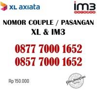Nomor Cantik Couple / Pasangan Nomer XL & IM3 Seri Ribuan 1652