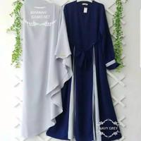 Baju Gamis Wanita / Setelan Gamis Marwah Syari plus Jilbab