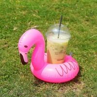 Cup holder float flamingo besar / ban gelas / pelampung gelas