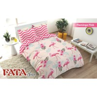 BED COVER SET FATA KING SIZE 180 X 200 - FLAMINGO PINK NEW