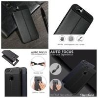 Asus Zenfone Max Pro M1 slim leather case auto focus carbon soft