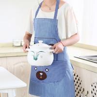 Celemek dapur murah bahan kain tebal karakter lucu apron masak