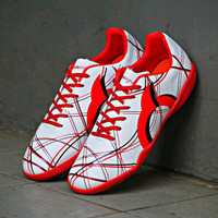 Sepatu Futsal Ortuseight Ventura In White Red Black Original