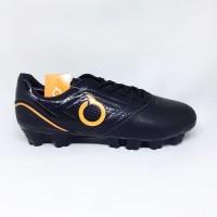 sepatu bola ortuseight genesis fg black orange new 2019 original