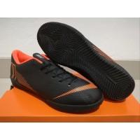 Sepatu Futsal Nike Mercurial Vapor XII Academy Black Orange Sol Black