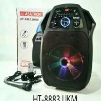 Speaker Portable Wireless Meeting Asatron HT-8883 UKM (10 Inch) ORI