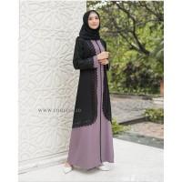 AURELIA MAXY Baju Hijab Panjang Simple Gaun Kerja Modis Gamis Muslimah