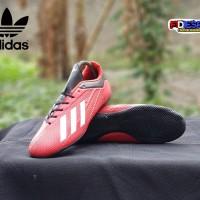 Sepatu Futsal Adidas X 18 Komponen ori/Adidas X 18 Red Black
