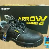 Sepatu pengaman KRISBOW SAFETY SHOES ARROW 4 INCH sepatu sefty- Hitam
