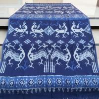 kain tenun ikat ethnic/tenun blanket/motif sumba ntt - Biru