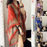 Mode santai Plus Ukuran Grimo Baju Selendang Batik sutra wanita Cantik