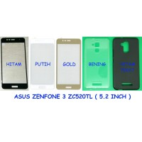 Paket Asus Zenfone 3 Max ZC520TL 5.2 - Tempered Glass Full + Softcase