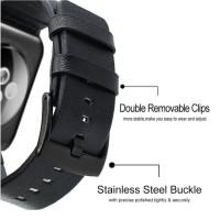 Modern Leather Strap Kulit Untuk Apple Watch 44mm 42mm 40mm 38mm