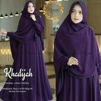 Gamis Syari Terbaru Set Khimar Model Baju Muslim Khadijah