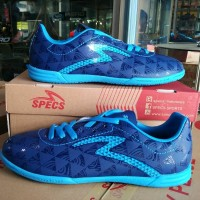 Sepatu futsal specs murah Quark Galaxy blue original