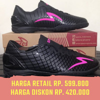Sepatu Futsal Specs Exocet IN - Black Beat Magenta