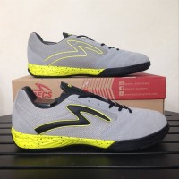 Sepatu Futsal Specs Metasala Rival - Palona Grey Solar Slime Black