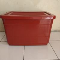 Box Container 50 liter , Merah - Merah